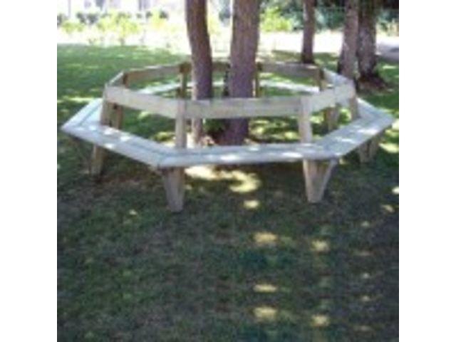 Banc bois circulaire tapiaou avec dossier contact - Plan banc en bois avec dossier ...
