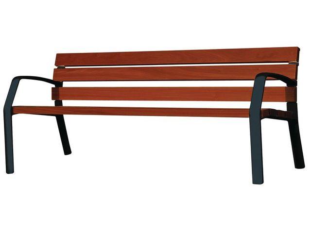 banc de ville classique accoudoirs en bois contact seton. Black Bedroom Furniture Sets. Home Design Ideas