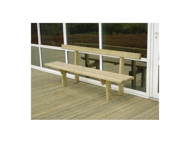 banc droit en bois avec dossier 1 lame contact signals. Black Bedroom Furniture Sets. Home Design Ideas