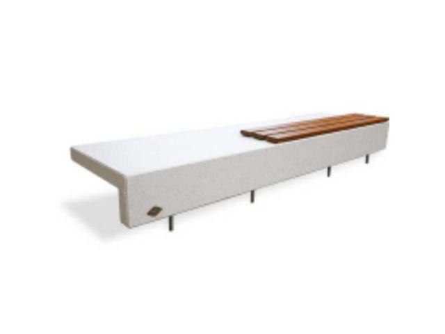 banc ela mad 3000 b ton blanc avec assise bois contact btp group achatmat. Black Bedroom Furniture Sets. Home Design Ideas