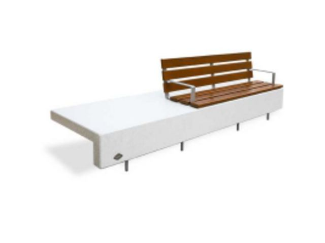 banc ela plus 3000 assise banc b ton blanc contact btp group achatmat. Black Bedroom Furniture Sets. Home Design Ideas
