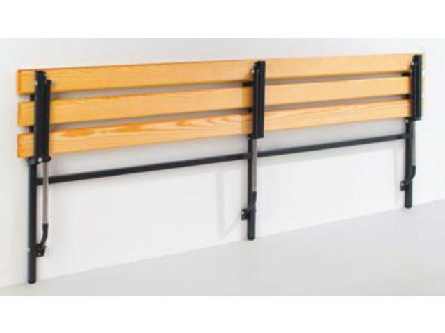 banc mural rabattable longueur jusqu 39 1200 mm avec. Black Bedroom Furniture Sets. Home Design Ideas