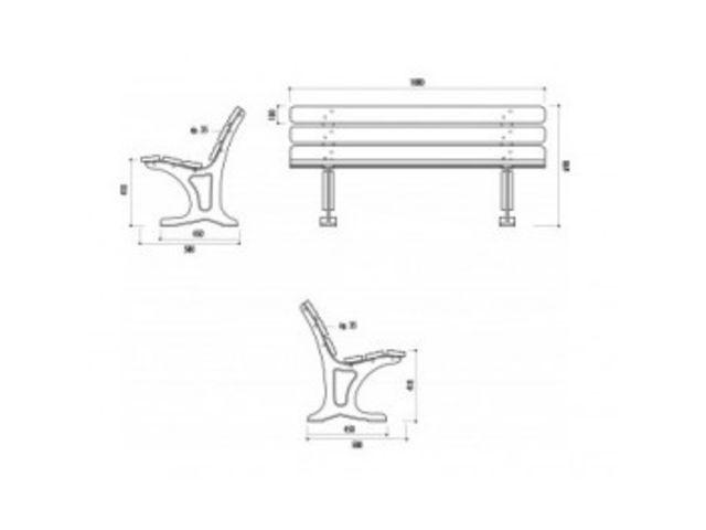banc public barcelone bp6 contact distribution materiels collectivites. Black Bedroom Furniture Sets. Home Design Ideas