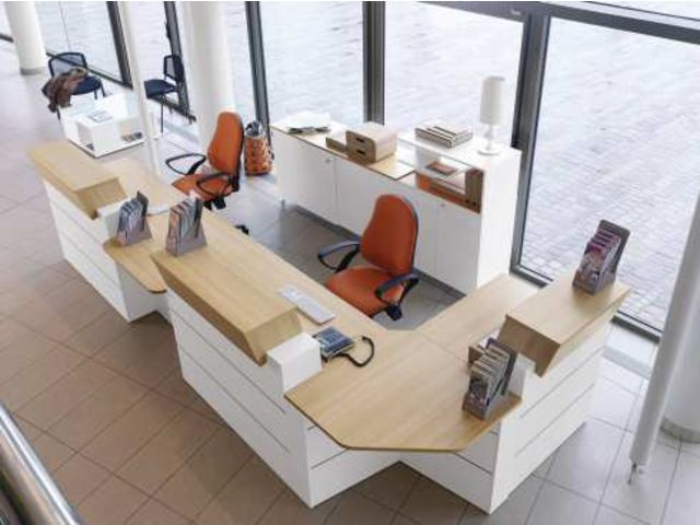 banque d 39 accueil haute l 120 cm sunday contact maxiburo. Black Bedroom Furniture Sets. Home Design Ideas