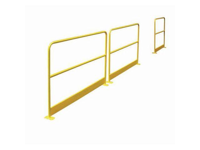 barri re de protection avec plinthe jaune ral 1023 contact manutan. Black Bedroom Furniture Sets. Home Design Ideas