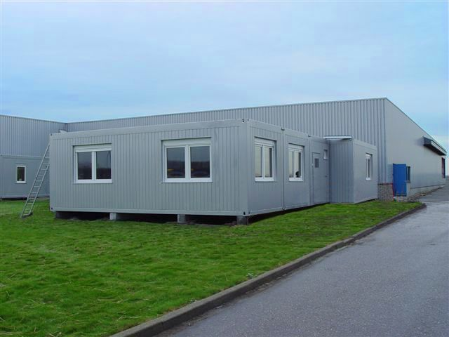 B timent administratif en construction modulaire contact for Batiment container