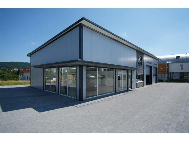 B timents acier atelier hall d 39 exposition pour for Batiment container