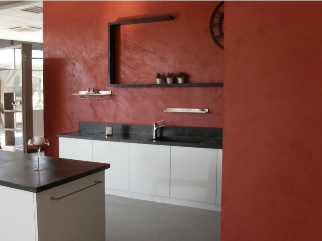 Enduit pour plan de travail cuisine beton cire salle de for Plan de travail pour salle de bain leroy merlin