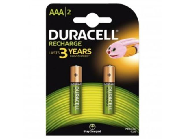 Blister de 2 accu DURACELL AAA 750A PLUS POWER.