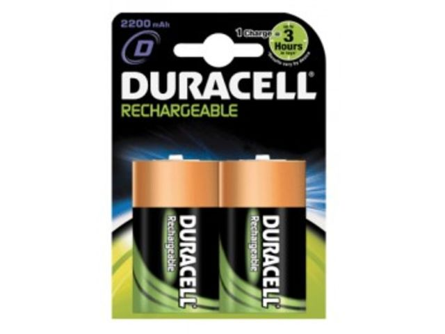 Blister de 2 accumulateurs NIMH DURACELL HR20