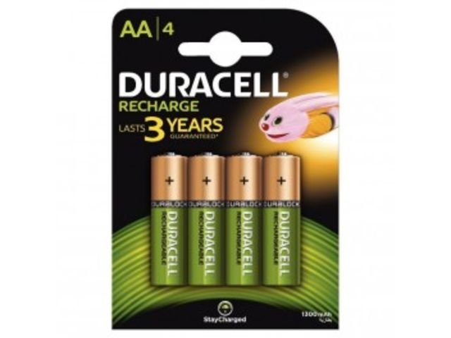 Blister de 4 accu DURACELL AA 1300A PLUS POWER.