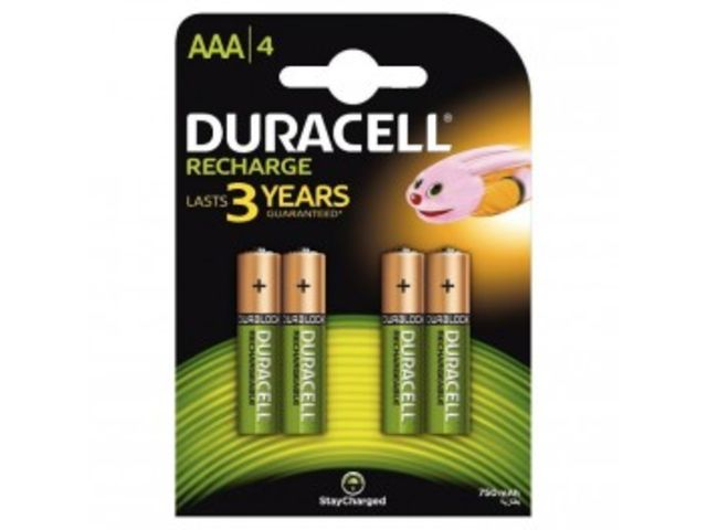 Blister de 4 accu DURACELL AAA 750A PLUS POWER.