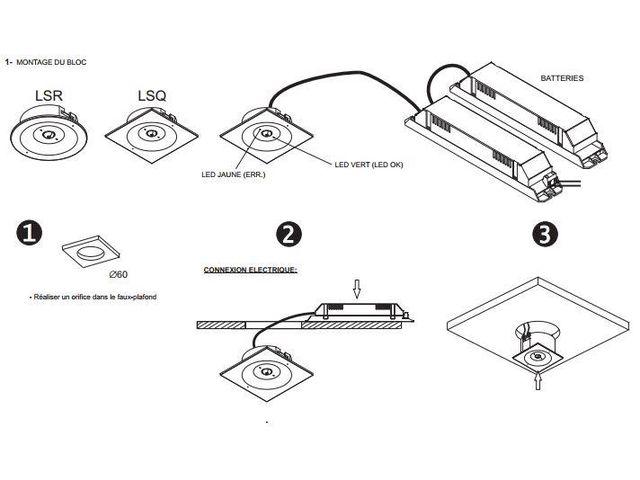 bloc autonome d 39 clairage de s curit baes rond gamme. Black Bedroom Furniture Sets. Home Design Ideas