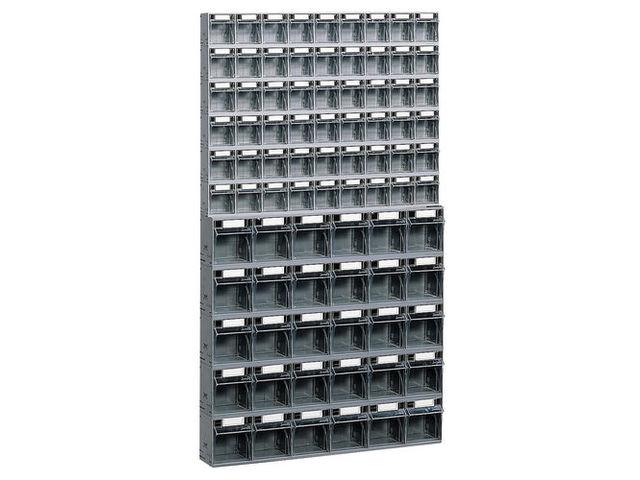 Bloc tiroir plastique 84 tiroirs avec cadre support mural - Bloc tiroir plastique ...