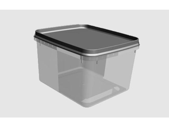 boite bac carr en plastique inject pour vos glaces sorbets plats pr par s produits. Black Bedroom Furniture Sets. Home Design Ideas