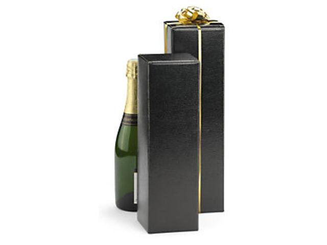 bo te carton pour bouteille noire effet l zard sans poign es contact raja. Black Bedroom Furniture Sets. Home Design Ideas