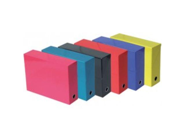 boîte de classement carton plastifié arianex dos 8 cm rouge