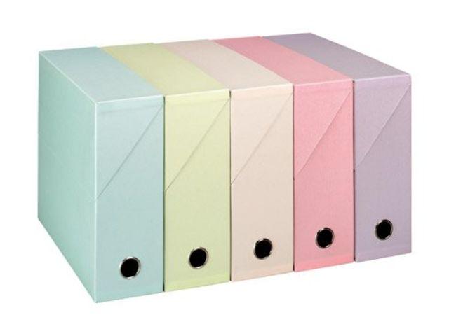 Bo te de classement carton adine dos 9 cm couleurs nacr es assorties cont - Boite de classement carton ...