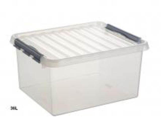 Boite de rangement grand volume 38 litres contact rangestock - Grande boite de rangement plastique ...