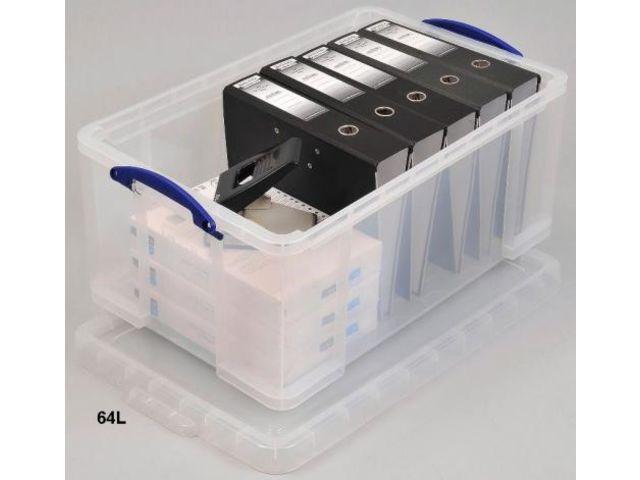 boite plastique pour rangement dossier suspendu 64l contact rangestock. Black Bedroom Furniture Sets. Home Design Ideas
