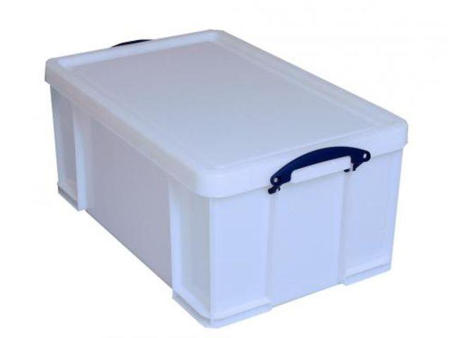 boite plastique r sistante aux chocs blanche 50 litres contact rangestock. Black Bedroom Furniture Sets. Home Design Ideas