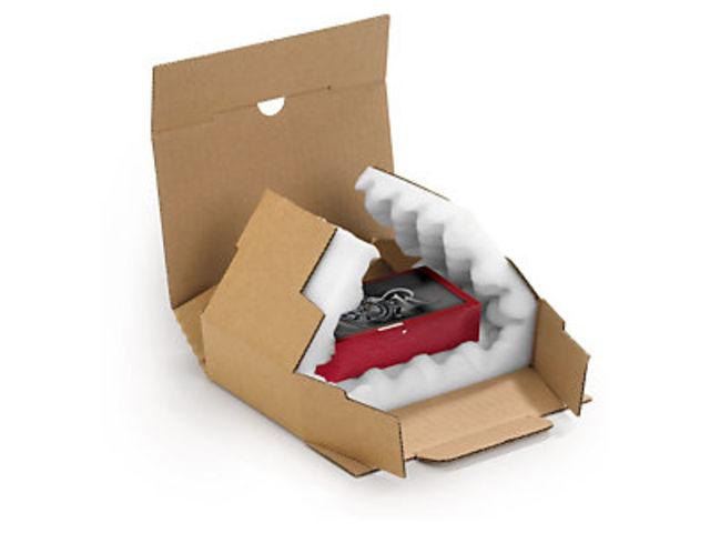 bo te postale carton brune avec calage mousse rajapack 39 mousse contact raja. Black Bedroom Furniture Sets. Home Design Ideas