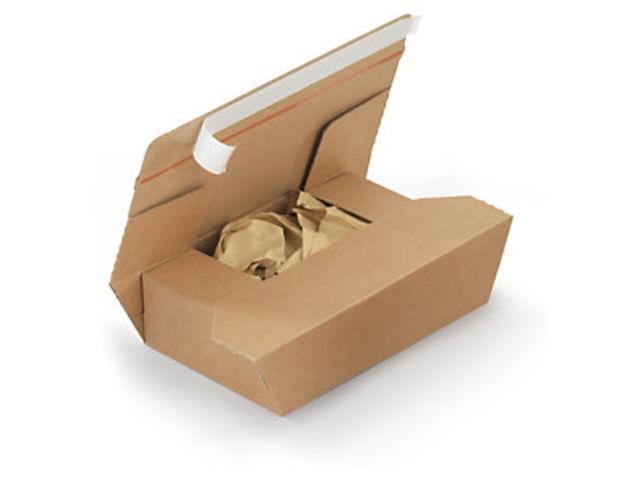 bo te postale carton brune avec calage papier et fermeture adh sive contact raja. Black Bedroom Furniture Sets. Home Design Ideas