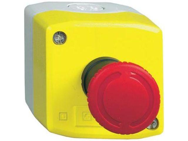 Bo tier d 39 arr t d 39 urgence avec bouton poussoir coup de poing 240 v ac schneider electric - Bouton d arret d urgence ...