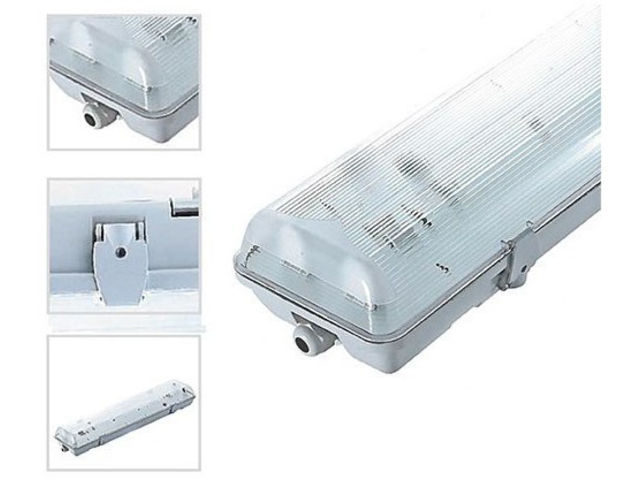 Boitier tanche pour tube led contact triphled - Boitier etanche pour spot ...