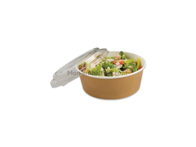 bol salade kraft brun 1000ml avec couvercle par 150 contact mon emballage. Black Bedroom Furniture Sets. Home Design Ideas