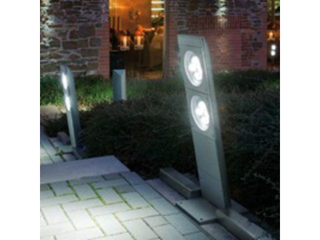 Borne d clairage ext rieur led born o contact sarlam for Eclairage jardin led electrique