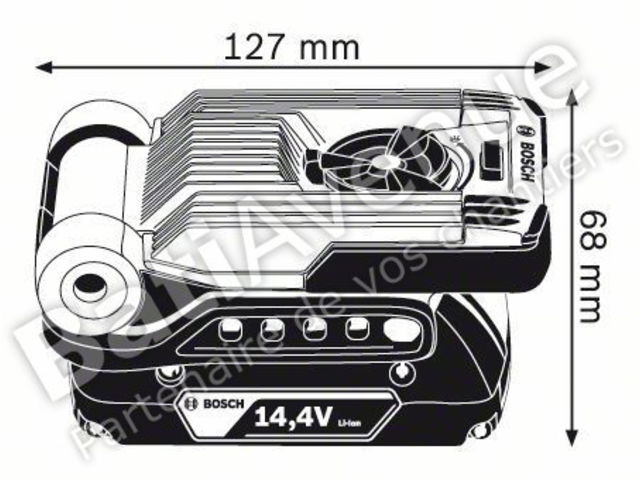 Variled Lampe Fil Bosch 0601443400 Sans Gli Professional Outillage nkwOP80