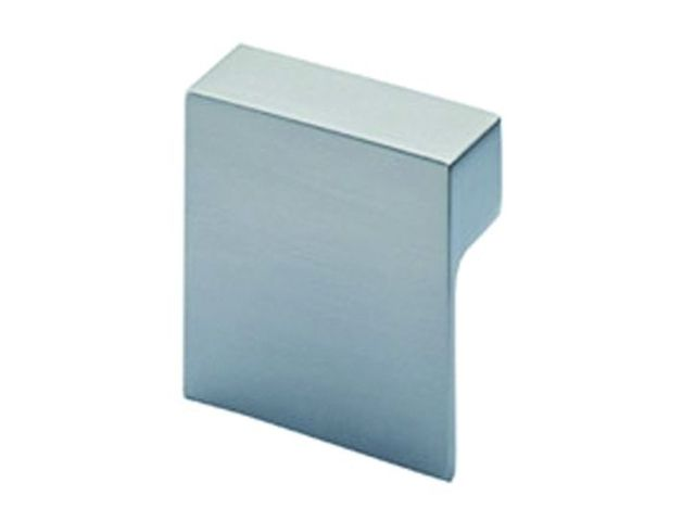 Bouton contemporain Carré Venusia zinc