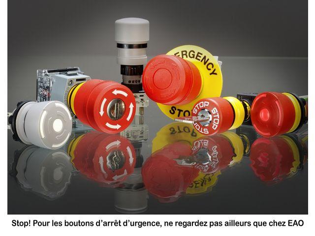 boutons poussoirs d 39 arr t d 39 urgence contact eao france. Black Bedroom Furniture Sets. Home Design Ideas