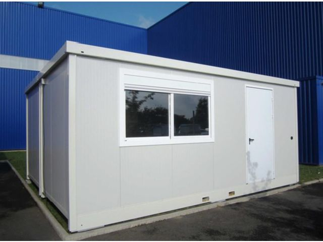 Bungalow bureau de chantier connectables contact for Container bureau prix