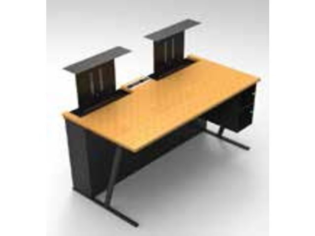 Bureau avec cran escamotable contact aratice for Meuble bureau escamotable