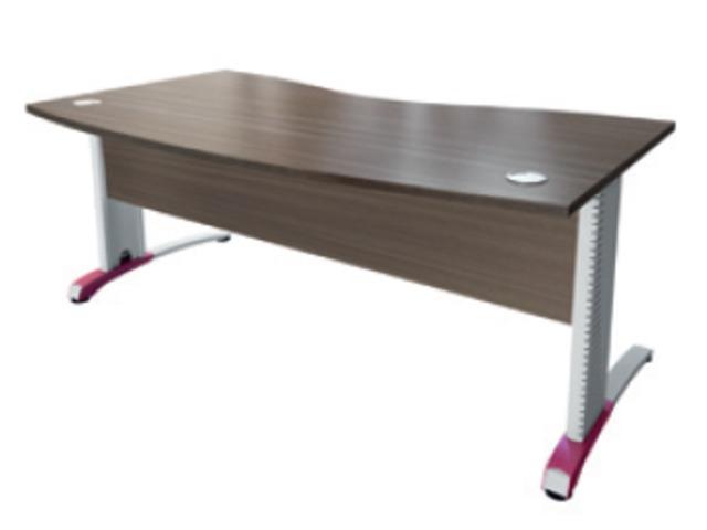 bureau avec pied m tal c2 voile de fond structurex. Black Bedroom Furniture Sets. Home Design Ideas