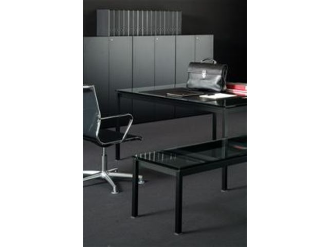 Bureau bianco nero noir contact terre design