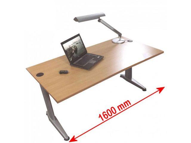 Bureau bois droit teo longueur 1600mm contact roll co for Fournisseur bureau pro
