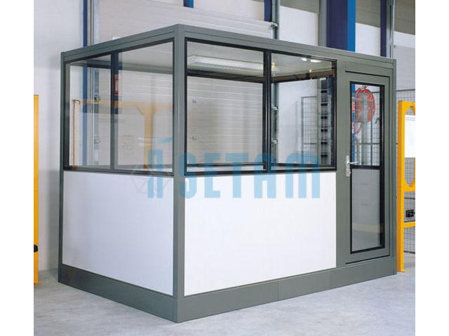 bureau cabine d atelier 3x2 m 232 tres contact setam rayonnage et mobilier professionnel