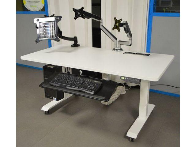 Bureau électrique réglable en hauteur contact aratice
