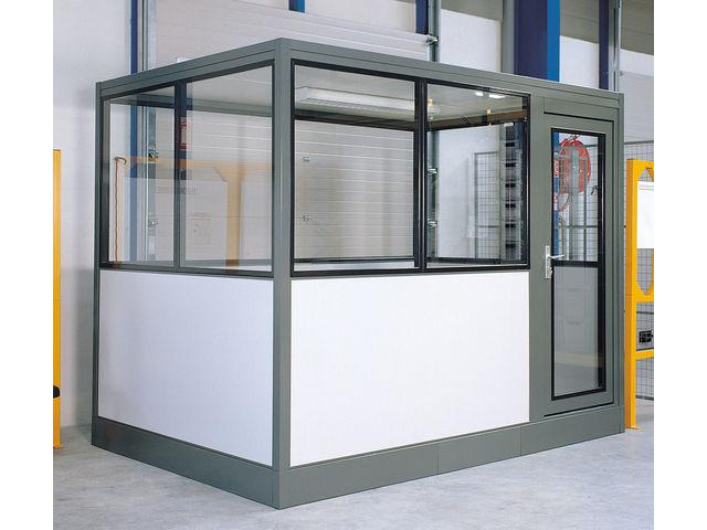 Cabine bureau industriel 6x3 m tres contact setam - Produits autorises en cabine ...