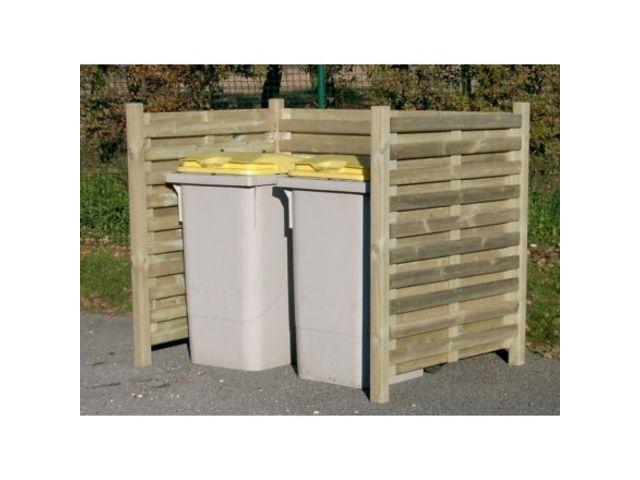 cache containers poubelles cache poubelles ajours lames chtaignier with cache containers. Black Bedroom Furniture Sets. Home Design Ideas