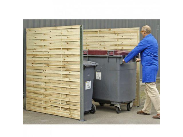 Cache poubelle bois tress contact roll co - Fabriquer cache poubelle bois ...