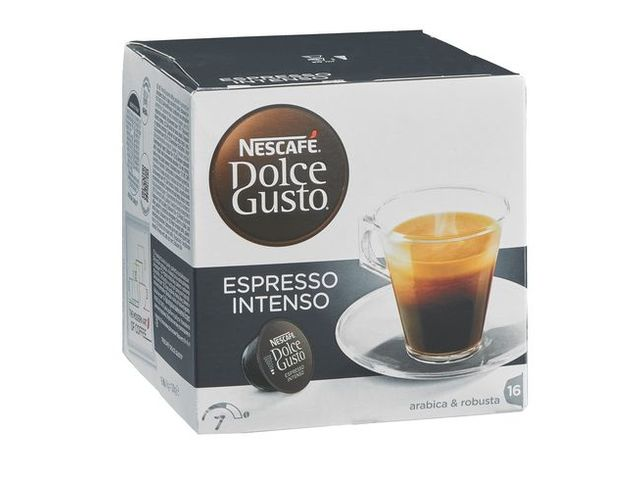 caf nescaf expresso intense dosette pour dolce gusto bo te de 16 contact maxiburo. Black Bedroom Furniture Sets. Home Design Ideas
