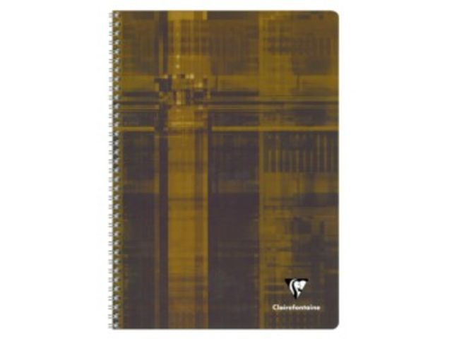 Cahier spirale Clairefontaine - A4 grands carreaux  100 pages 90 gr