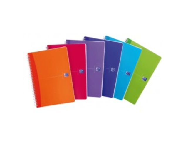 Cahier spirale Oxford My colours A4 petits carreaux 100 pages 90 gr