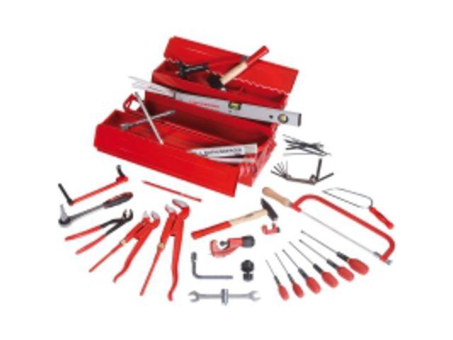 caisse outils compl te 26 pi ces contact btp group achatmat. Black Bedroom Furniture Sets. Home Design Ideas