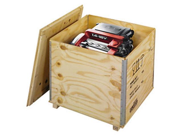 Caisse bois contreplaqué avec chevrons RAJABOX Contact RAJA # Caisse De Transport Bois