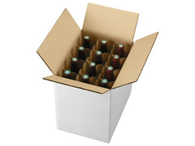 caisse carton d 39 exp dition pour bouteilles avec croisillons contact raja. Black Bedroom Furniture Sets. Home Design Ideas